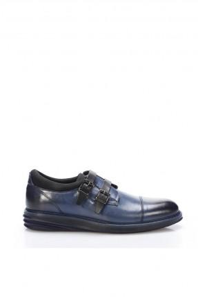 حذاء رجالي شيك بحزام - ازرق داكن