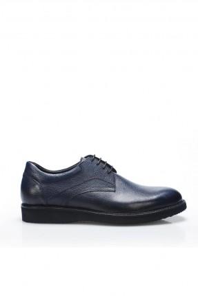 حذاء رجالي شيك برباط - ازرق دكن