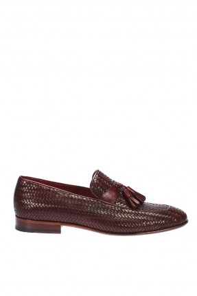 حذاء رجالي شيك مزين بكشكش - خمري