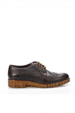 حذاء رجالي شيك برباط - بني