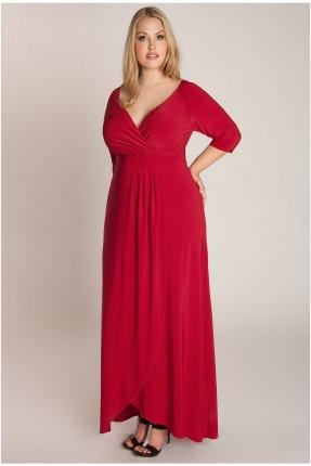فستان رسمي لف - احمر
