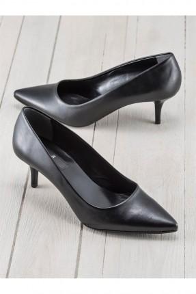 حذاء نسائي بكعب رفيع - اسود