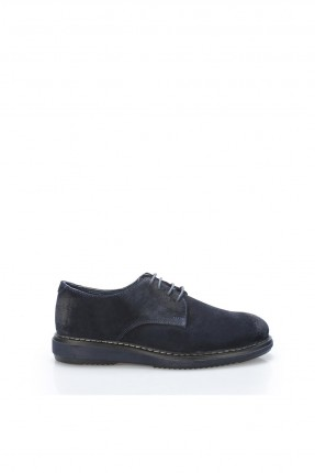 حذاء رجالي شيك برباط - ازرق داكن
