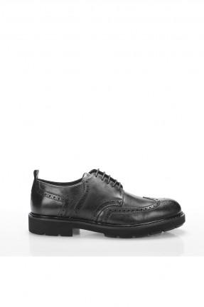 حذاء رجالي شيك برباط - اسود