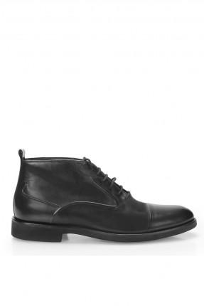 حذاء رجالي شيك بساق عالي - اسود