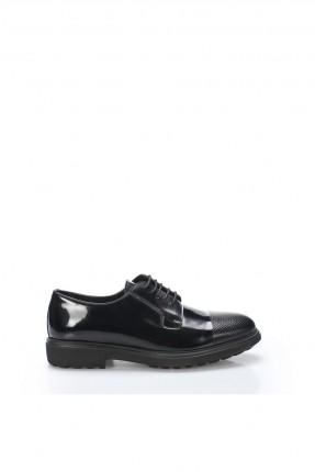 حذاء رجالي شيك ذو لمعة - اسود