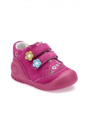 حذاء بيبي بناتي جلد Polaris - فوشيا