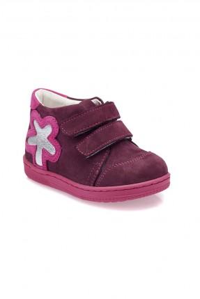 حذاء بيبي بناتي جلد Polaris - بنفسجي