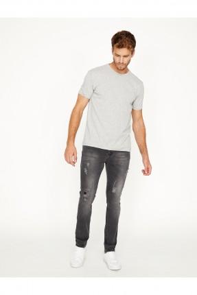 بنطال جينز رجالي سبور - رمادي