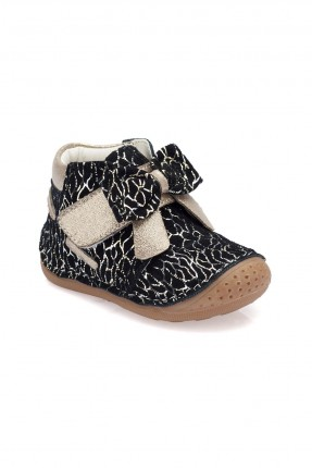 حذاء بيبي بناتي جلد مزخرف Polaris