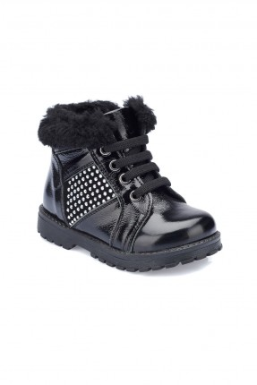 حذاء بيبي بناتي Polaris - اسود
