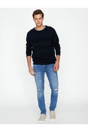 بنطال جينز رجالي سبور - ازرق داكن
