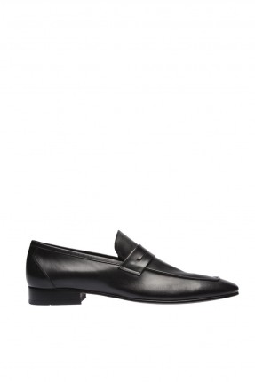 حذاء رجالي جلد شيك مزين بحزام