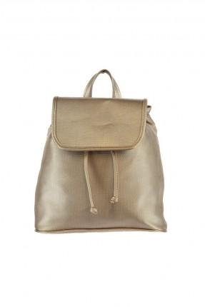 حقيبة ظهر نسائية شيك - ذهبي