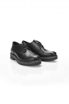 حذاء نسائي جلد - اسود