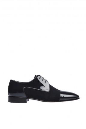 حذاء رجالي شيك ذو لمعة برباط
