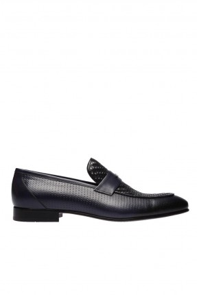 حذاء رجالي شيك مزين بحزام - ازرق داكن