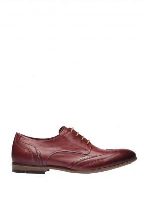 حذاء رجالي شيك برباط - خمري