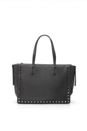 حقيبة يد نسائية مزينة - اسود