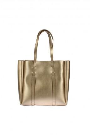 حقيبة يد نسائية شيك - ذهبي
