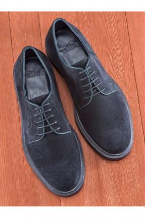 حذاء رجالي رسمي سادة - ازرق داكن