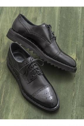 حذاء رجالي رسمي منقش - اسود