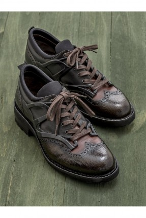 حذاء رجالي رسمي مع رباطات - اسود