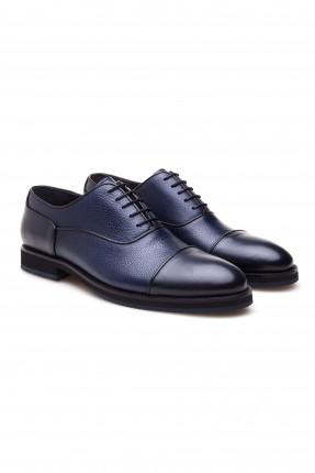 حذاء رجالي مع رباطات - كحلي