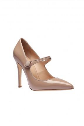 حذاء نسائي جلد كعب عالي رسمي
