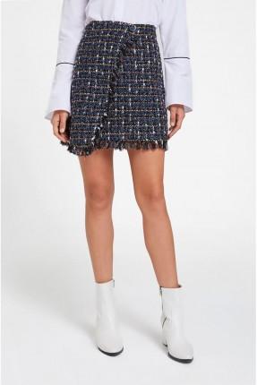 تنورة قصيرة مزينة شراشيب