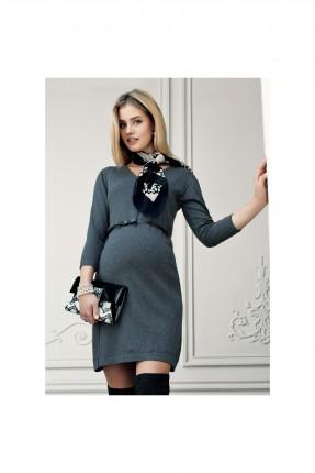فستان سبور حمل كم طويل سادة