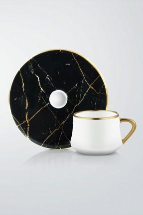 طقم فنجان قهوة 6 اشخاص - اسود