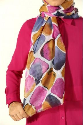 حجاب تركي منقش - وردي