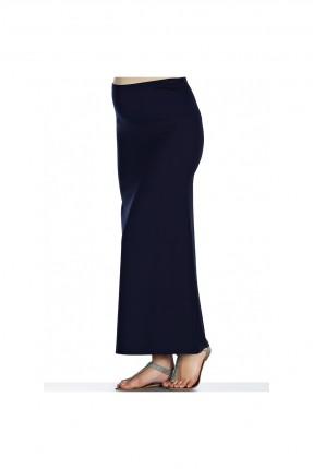 تنورة طويلة للحمل - ازرق داكن