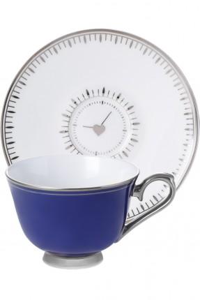 طقم فنجان قهوة شخصين - ازرق