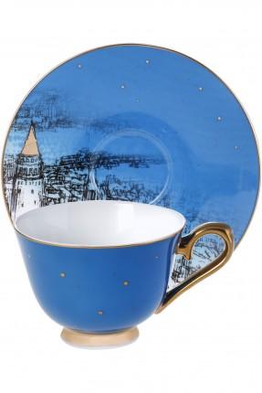 طقم فنجان قهوة /2 شخص / - ازرق