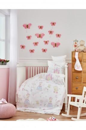 طقم غطاء سرير بيبي بناتي