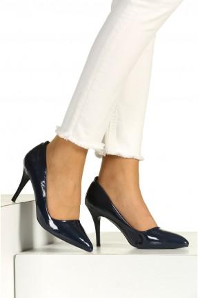 حذاء نسائي بكعب عالي - ازرق داكن
