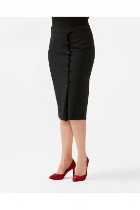 تنورة قصيرة رسمية مزينة بازرار