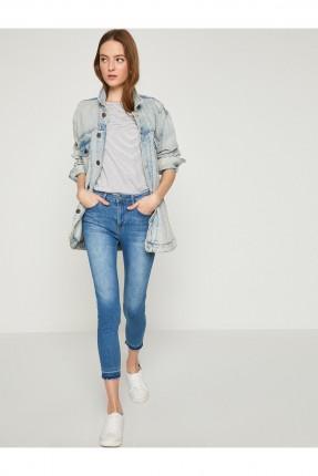 بنطال نسائي جينز مع جيوب قصير