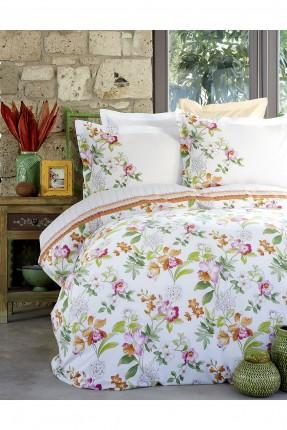 طقم بطانية سرير مفرد مزخرف ورود
