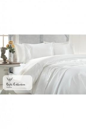 طقم غطاء سرير مزدوج - كريم