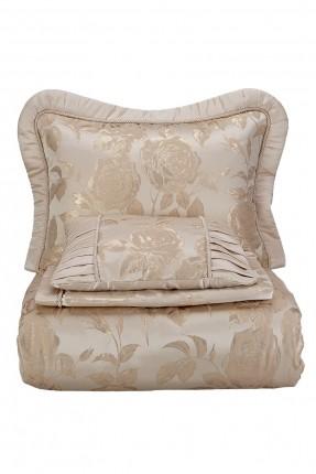 طقم غطاء سرير مزدوج - ذهبي