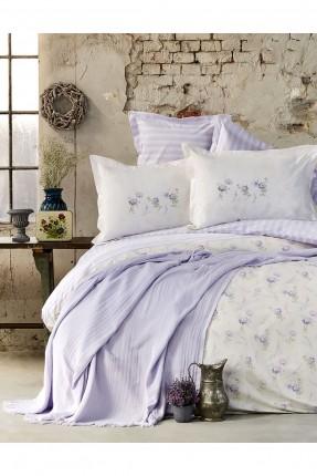 طقم غطاء سرير مفرد - بنفسجي فاتح
