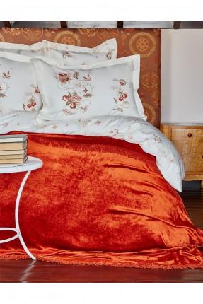 طقم غطاء سرير مزدوج مزخرف ورود