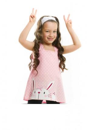 بلوز اطفال بناتي مع رسمة ارنب