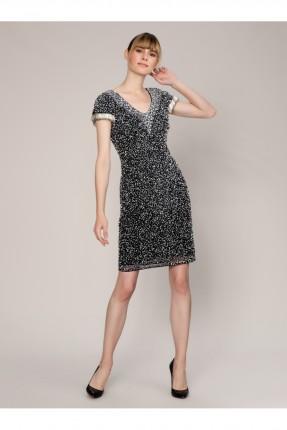فستان رسمي مزين ترتر