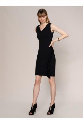 فستان رسمي تريكو - اسود