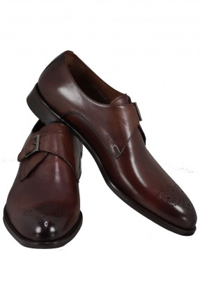 حذاء رجالي جلد بحزام