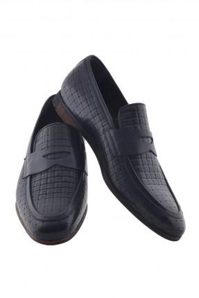 حذاء رجالي جلد مزين بحزام